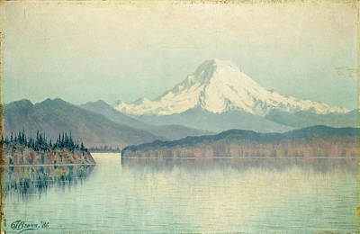Grafton Painting - View Of Mount Rainier by Grafton Tyler Brown