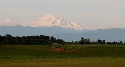 Art Print featuring the photograph View Of Mt. Baker - 2 by Christy Pooschke