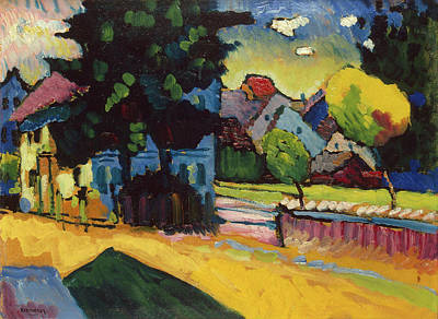 Streetscape Painting - View Of Murnau by Wassily Kandinsky