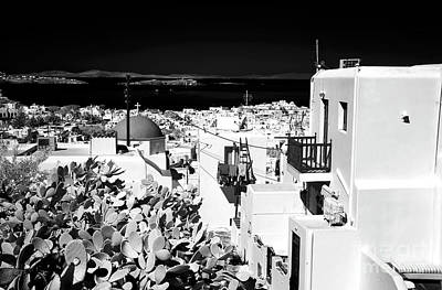 Photograph - View Of Mykonos Town Infrared by John Rizzuto