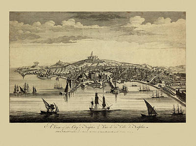 Photograph - View Of Naples 1755 by Andrew Fare