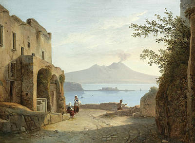 Painting - View Of Naples From Posillipo by Franz Ludwig Catel
