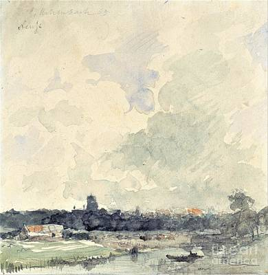 Painting - View Of Neuss by Pg Reproductions