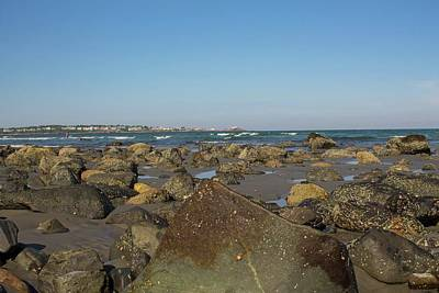 Photograph - View Of Nubble Lighthouse From Long Sands Beach York Maine 8 by Michael Saunders