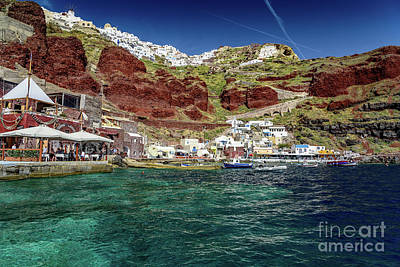 Photograph - View Of Oia From Amoudi Bay, Santorini, Greece by Global Light Photography - Nicole Leffer