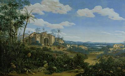 View Of Olinda Brazil Art Print by Frans Jansz Post