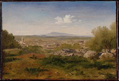 Flandrin Painting - View Of Orange With Mont Ventoux by Paul Flandrin