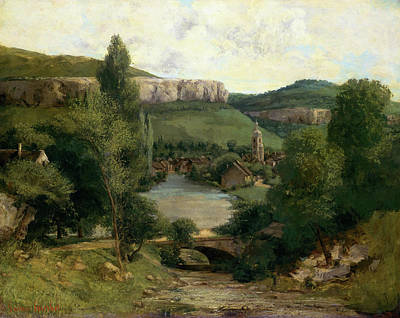 Architectural Painting - View Of Ornans by Gustave Courbet