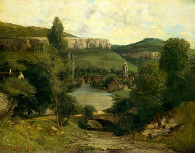 Painting - View Of Ornans, Mid-1850s by Gustave Courbet
