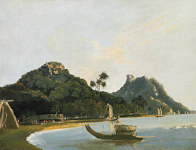 Painting - View Of Part Of Owharre Harbour, Island Of Huahine by Treasury Classics Art