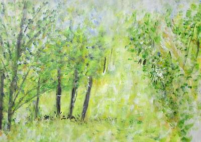 Painting - View Of Pasture From Window by Glenda Crigger