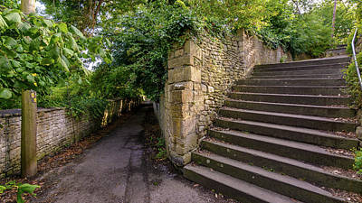Photograph - View Of Pathway And Steps At The End Of Church Lane In Bradford- by Jacek Wojnarowski