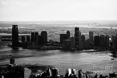 Exchange Place Photograph - view of paulus hook and exchange place jersey city New jersey USA by Joe Fox