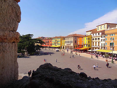 View Of Piazza Bra Art Print