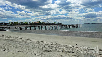 View Of Pier. Fisherman's Beach, Swampscott, Ma Art Print