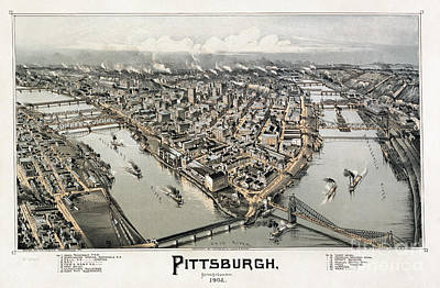 Photograph - View Of Pittsburgh, 1902 by Granger
