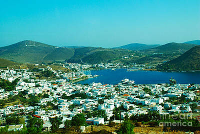 Greek Photograph - View Of Port Skala Patmos Island Greece by Just Eclectic