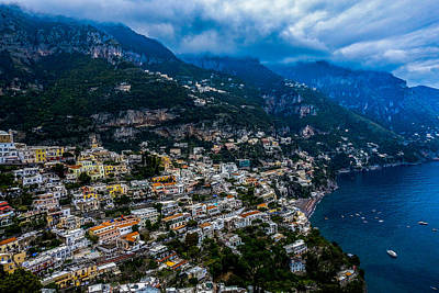 Photograph - View Of Positano by Marilyn Burton
