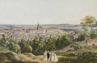 Prague Castle Painting - View Of Prague Castle From  Hill by Richter