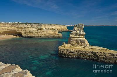 Cliff Photograph - View Of Praia Deserta In Algarve by Angelo DeVal
