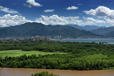Mexico Photograph - View Of Puerto Vallarta Over The Ameca River With Sierra Madre M by Reimar Gaertner