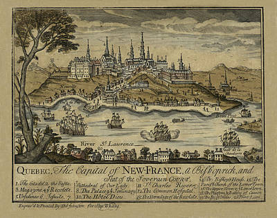Photograph - View Of Quebec City 1759 by Andrew Fare