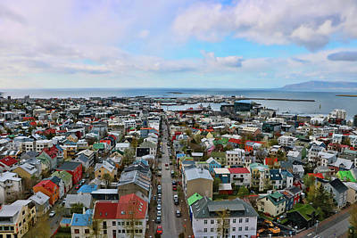 Photograph - View Of Reykjavik # 2 by Allen Beatty