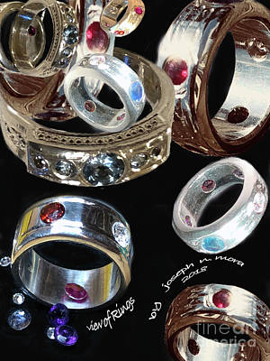 Mixed Media - View Of Rings by Joseph Mora