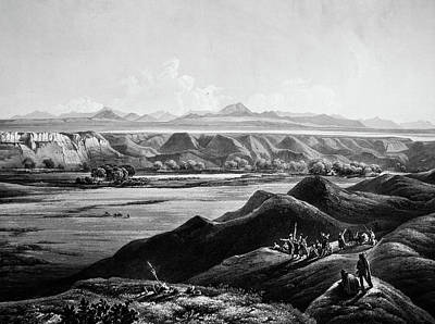 View Of Rocky Mountains In Distance Art Print by Douglas Barnett