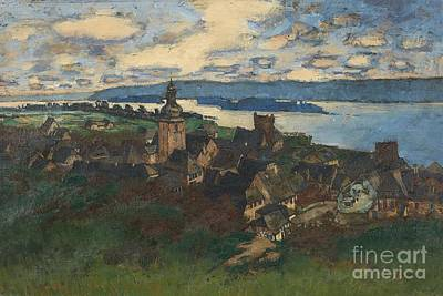 Superstition Mountains Painting - View Of Rudesheim On The Rhine by Celestial Images