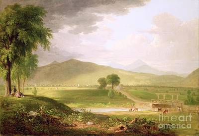 1796 Painting - View Of Rutland - Vermont by Asher Brown Durand