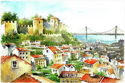 View Of Saint George Castle Lisbon Art Print