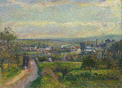 French Painting - View Of Saint-ouen-l'aumone by Camille Pissarro