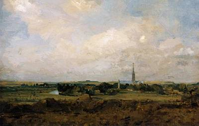 Painting - View Of Salisbury by Constable John