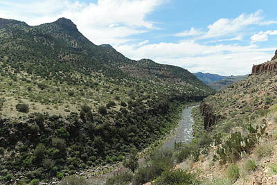 Hot Creek Photograph - View Of Salt River Canyon by Jeff Swan