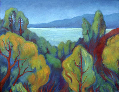 Painting - View Of San Francisco Bay by Linda Ruiz-Lozito