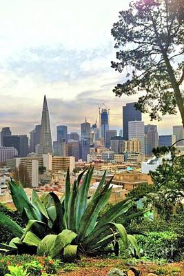 Photograph - View Of San Francisco From Hill by Janette Boyd and John Noyes