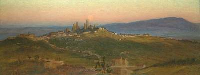 San Gimignano Painting - View Of San Gimignano by MotionAge Designs
