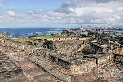Photograph - View Of San Juan From The Top Of Fort San Cristoba by Olga Hamilton