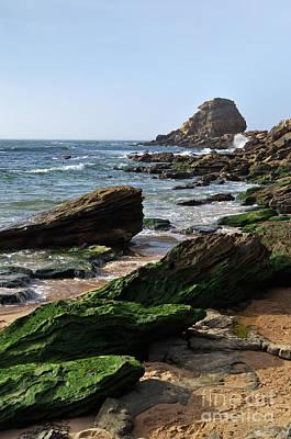 View Of Santa Rita Beach In Torres Vedras Art Print