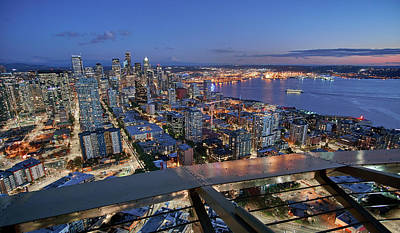 Photograph - Seattle From The Space Needle by Jim Hughes