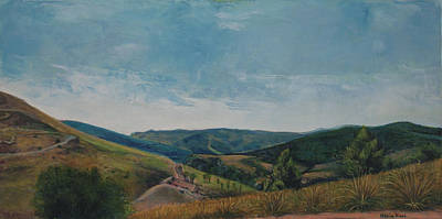 Painting - View Of Segesta II by Maria Rizzo
