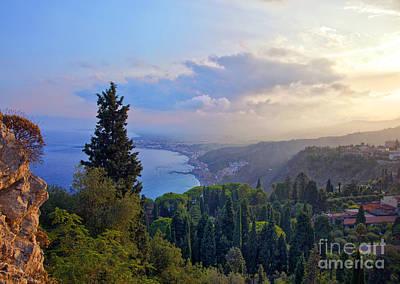 View Of Sicily Art Print by Madeline Ellis