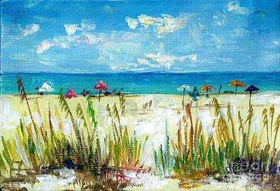 Painting - View Of Siesta Beach Mini by Lou Ann Bagnall