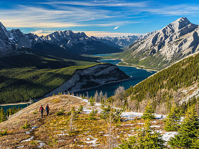 Curtis Patterson Rights Managed Images - View of Spray Lakes Valley while hiking down from Mt Sparrowhawk Royalty-Free Image by Curtis Patterson