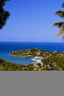 Photograph - View Of St. Lucia by Gary Wonning