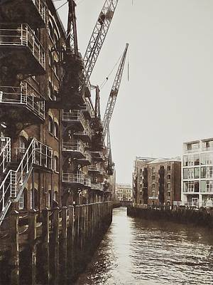 Photograph - View Of St Saviours Dock Bermondsey by Dorothy Berry-Lound