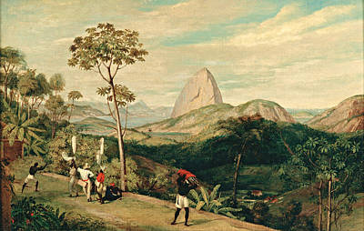 Charles Landseer Painting - View Of Sugarloaf Mountain From The Silvestre Road by Charles Landseer