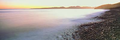 View Of Sunrise Over Pacific Ocean Art Print