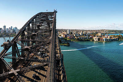 Photograph - View Of Sydney Harbour Bridge Looking Towards North Sydney by Daniela Constantinescu